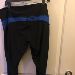 Pants - EUC work out pants size 2X black with royal blue